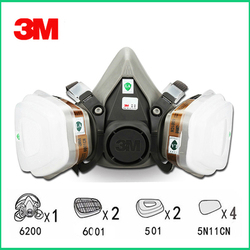 9 in 1 Suit 3M 6200 N95 PM2.5 Half Face Gas Mask Respirator Painting Spraying Gas Mask with 6001 Flter