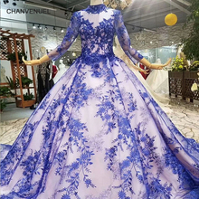 CHANVENUEL LS456789 sleeves ball gown muslim evening dress