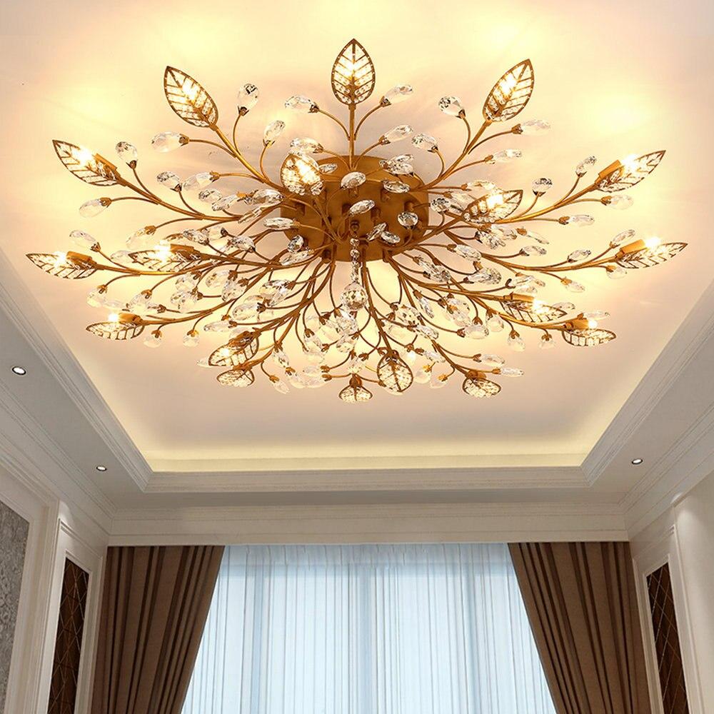 Moderne Vintage Intérieur LED Lustre En Cristal Lumières Lampe Appareils pour Salon Chambre Maison Décoration Accueil Lumières