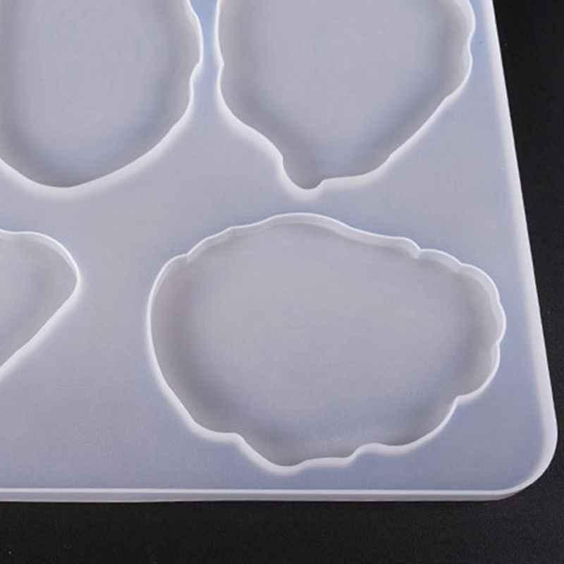 Большой стол украшения плесень набор подставок мульти-стандарт чашки мат Силиконовые формы ручной работы кристалл эпоксидной УФ клей плесень