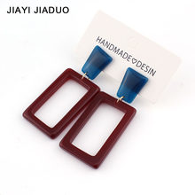 Jiayijiaudo Acrylic Tassel Earrings Brown Light Jewelry Gift Statement European New Arrival Retro Vintage Party for Women(China)