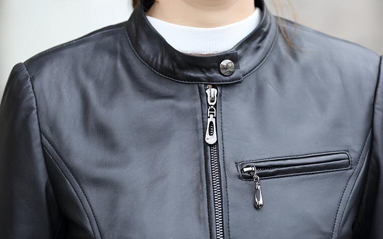 3xl Pu Col Court Noir Mince Veste Femmes Nouvelle Mode Chaude automne M Printemps Support Occasionnel 2019 dROdPq