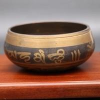 Nepalese Buddha bowl Tibet sound therapy bowl yoga bowl bronze.