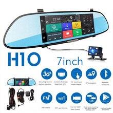 7 Cal 1080P Full HD wideorejestrator samochodowy kamera samochodowa lustro wsparcie dla androida GPS nawigacja Wifi wiele języków rejestrator samochodowy kamera