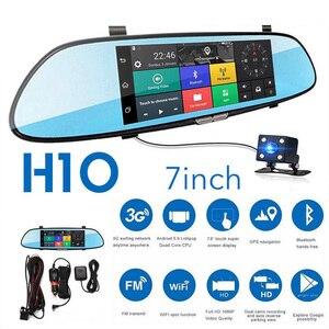 Image 1 - 7 zoll 1080P Volle HD Auto DVR Dash Kamera Spiegel Unterstützung Für Android GPS Navigation Wifi Mehrere Sprachen Auto recorder Kamera