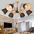 Лофт дубовый деревянный паук современный творческий ручной работы Дерево E27 лампа подвесные люстры светильник де techo colgante