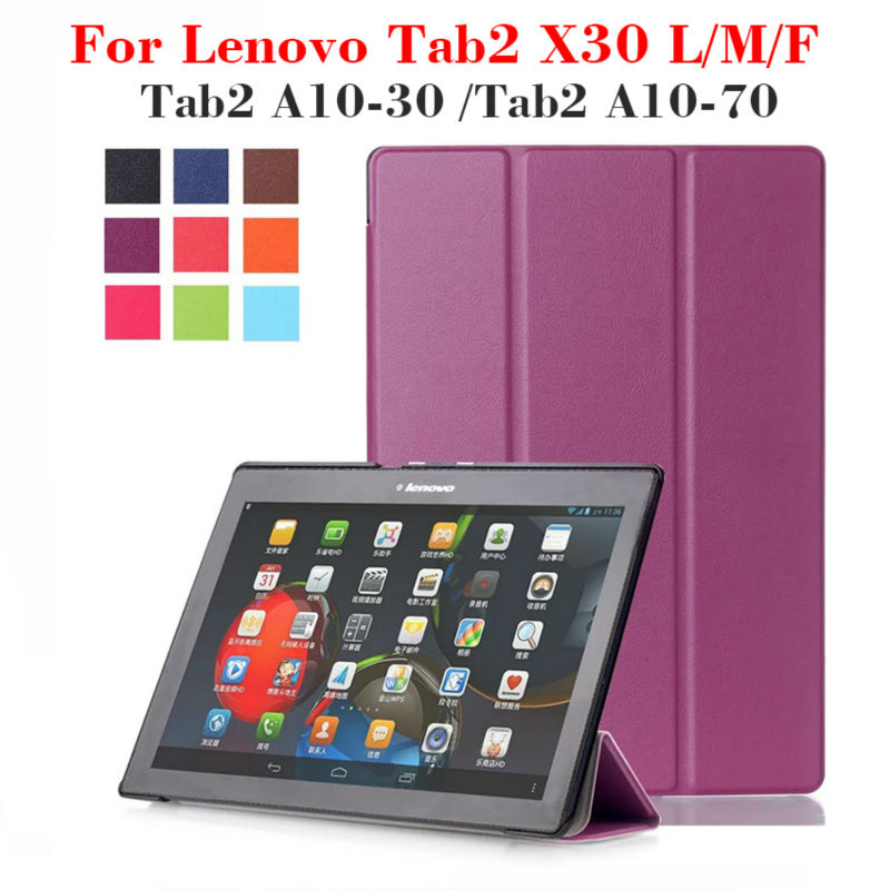 Tab 3 10.1 PU Leather Case Cover for Lenovo Tab2 a10-30 X30F X30L a10-70 Tablet 10.1 inch Magnet Case Stand tb2-x30l x30 +film