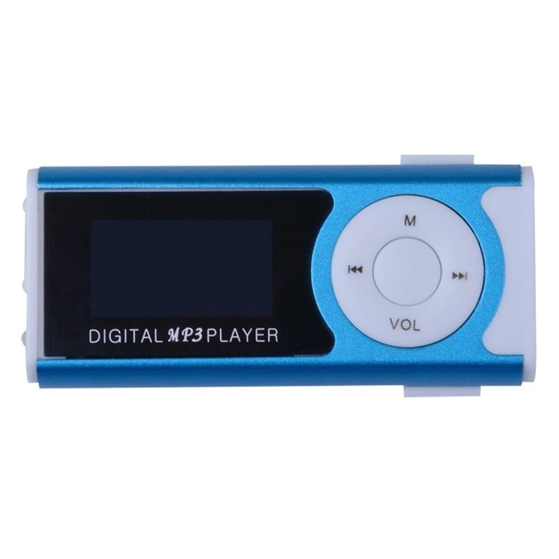 Nuevo mini clip Pantalla LCD Reproductor de música MP3 Reproductor - Audio y video portátil - foto 3