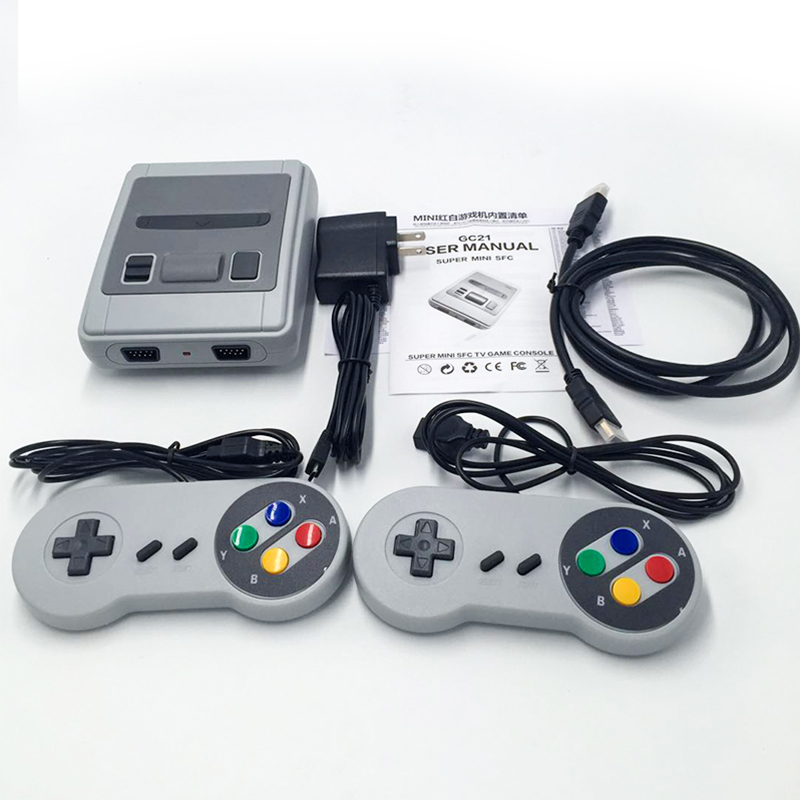 Classic Video Game Console Mini 8-bit Built-in 621 Games For PAL/NTSC TV with Universal Plug for Gaming Player Gift