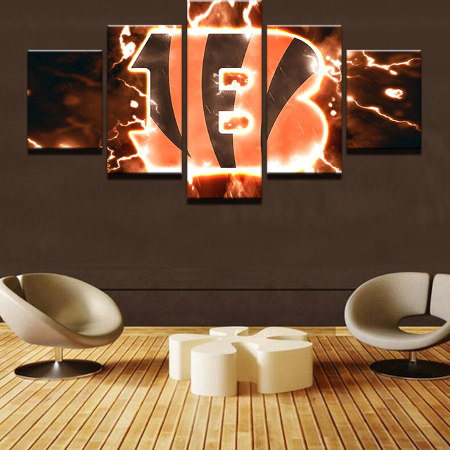 k5 5 piecesset cincinnati bengals canvas print free shipping - Home Decor Cincinnati