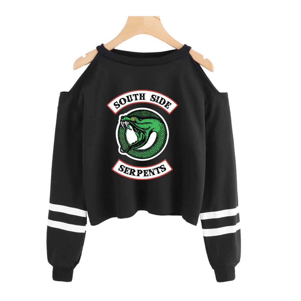 Riverdale Sweatshirt Women 2019 Fashion Sexy Dew Shoulder Sweatshirt Hot U.S. Drama Street Exclusive Casual Dew Shoulder Clothes