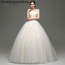Forevergracedress Vintage Cheap Wedding Dress Ball Gown Applique Tulle Beaded Sashes Long Bridal Gown Plus Size Custom Made