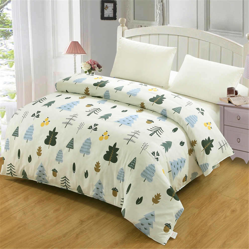 Modern simple style white Small forest Bedding 100 Cotton kind off kids child gift Duvet Cover