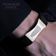 Power ionics pulseira de titânio, 3000 íons/cc ironman, germânio f.i r, fibra de carbono, bigolf, pulseira, livre de letras, presentes