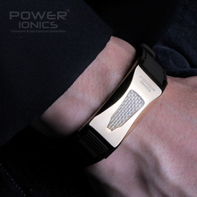 Часы браслет с надписью Power Ionics 3000 ионов/cc Ironman Titanium Germanium F.I.R из углеродного волокна