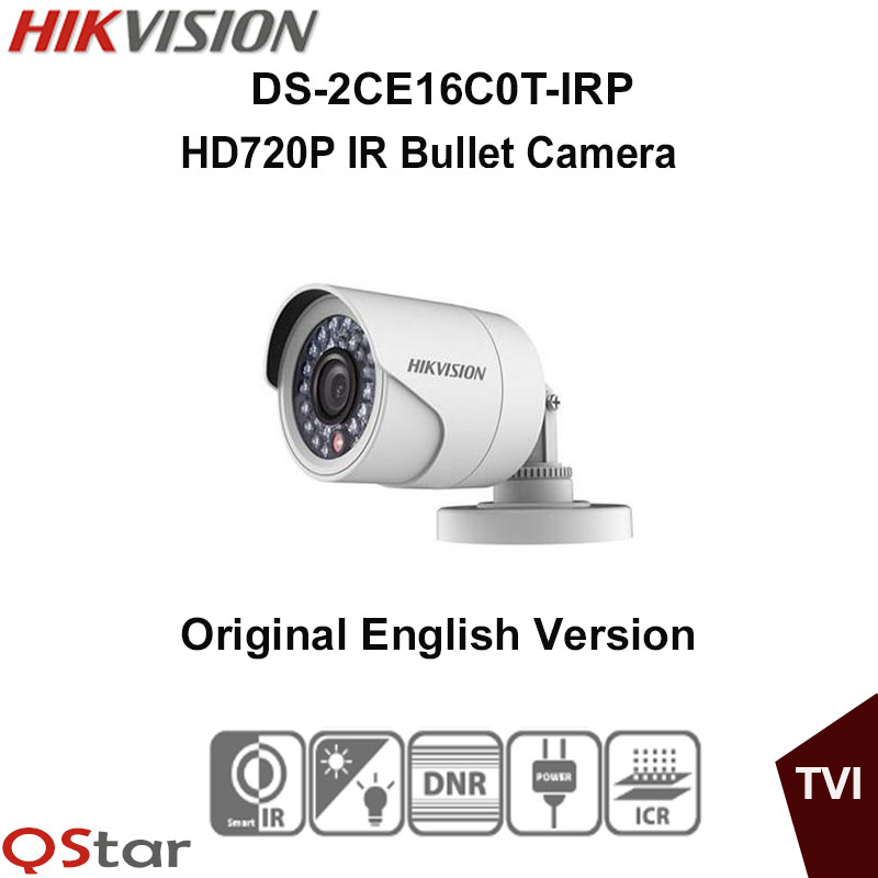 Hikvision Original English Version DS-2CE16C0T-IRP HD720P IR Bullet Camera DNR up to 20m IP66 weatherproof CCTV Camera irit irp 01 мини