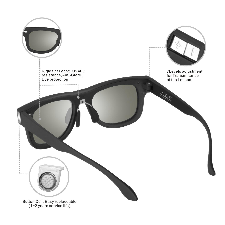 5bdf27b8932 LA VIE Designed Sunglasses LCD Polarized Electronic Adjustable Darkness  Liquid Lenses