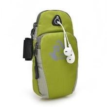 QUBABOBO 5.5 inch Unisex Waterproof Nylon Running Arm Bags Women Sports Waist Bag with Phone Holder, Running belt Bags by bike