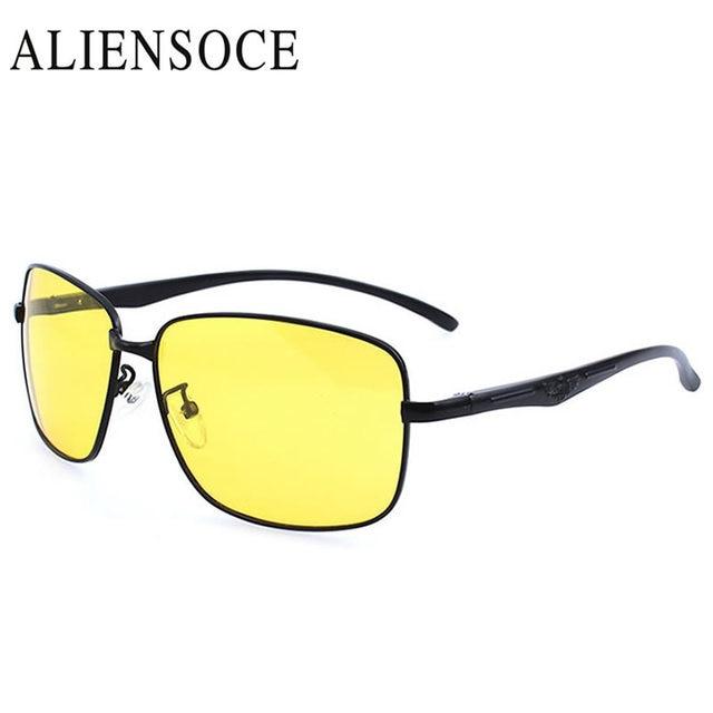 Nova Marca de Alta Definição de Visão Noturna de Condução Óculos de Lente  Amarela Retângulo Das 7126432c4d