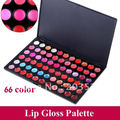 Free Shipping&Drop Shipping Professional Cosmetic Makeup 66 Color Gorgeous Lipsticks Lip Gloss Palette