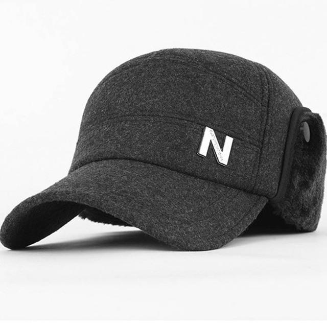 Alta qualidade pano de lã bonés de beisebol adequado para homens de meia idade caps para outono inverno snapback chapéu de topo achatado