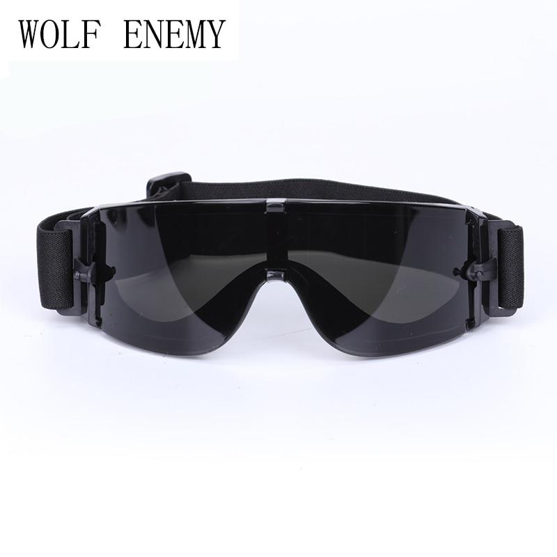 c433ee7cb5 X800 Militar gafas balísticos Objetivos antibalas táctico, Ejército Gafas  de sol, paintball airsoft Caza combate Gafas