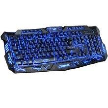 Горячая Продажа! 3 Подсветка LED Pro USB Проводной Дыхание Переключаемый Игры Gaming Keyboard M200 для LOL Dota2 Компьютерная Периферия