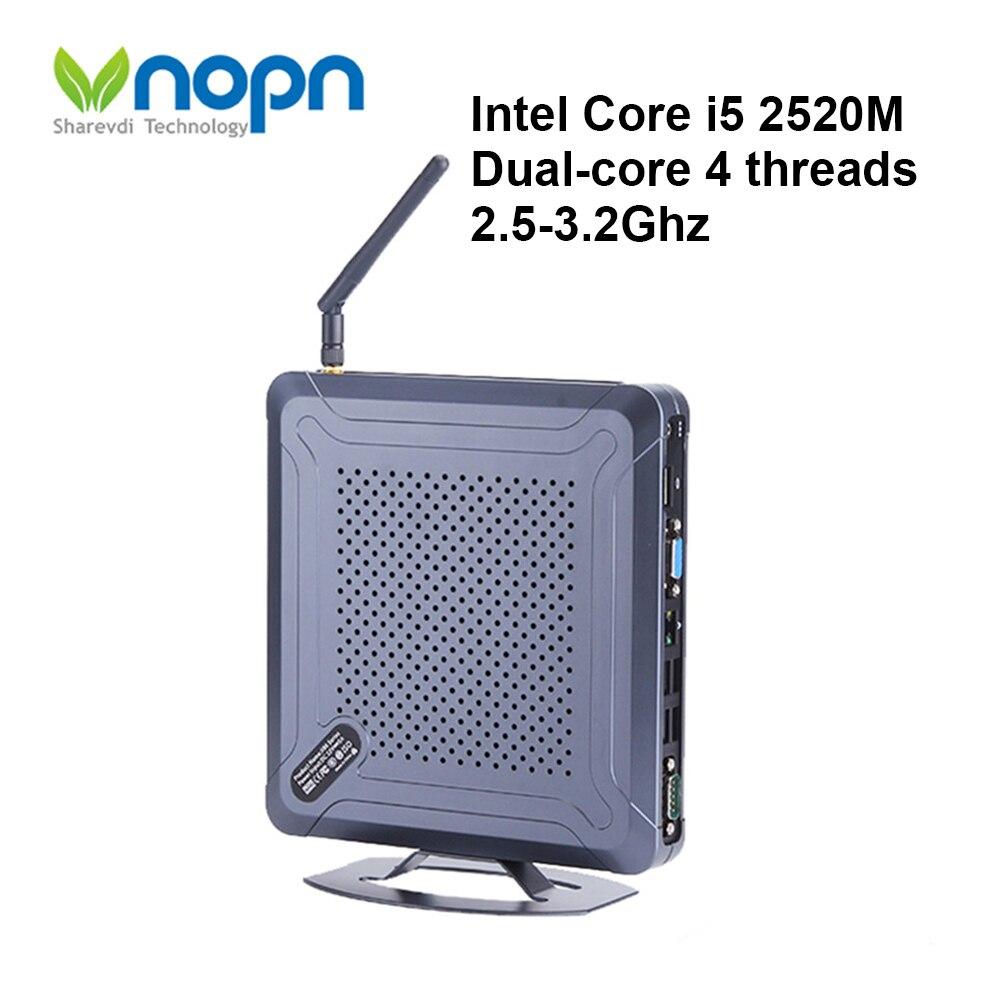 Mini PC Windows Intel Core i5 2520M 2Gen ordinateurs de bureau double coeur 1080P HDMI VGA double affichage 8 * USB DDR3 8GB RAM WIFI Mini-ordinateur