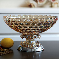 Crystal Glass Candy Compote Dry Pots Of High End Fashion Ornaments Home Furnishing Table Decoration Decoration