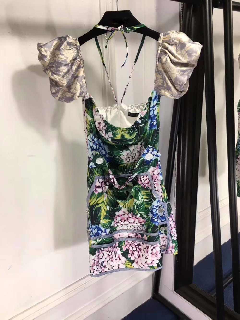 เซ็กซี่ห่อหน้าอกชุดที่สวยงามพิมพ์ชุดฤดูร้อนsarafanแฟชั่นตัดชุดมินิเซ็กซี่ชุดe vevingพรรคสุภาพสตรีชุด