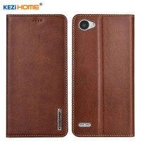Case for LG Q6 / Q6 Plus KEZiHOME Luxury Genuine Leather Flip wallet Cover for LG Q6 Alpha M700 Q6+ 5.5'' Phone cases