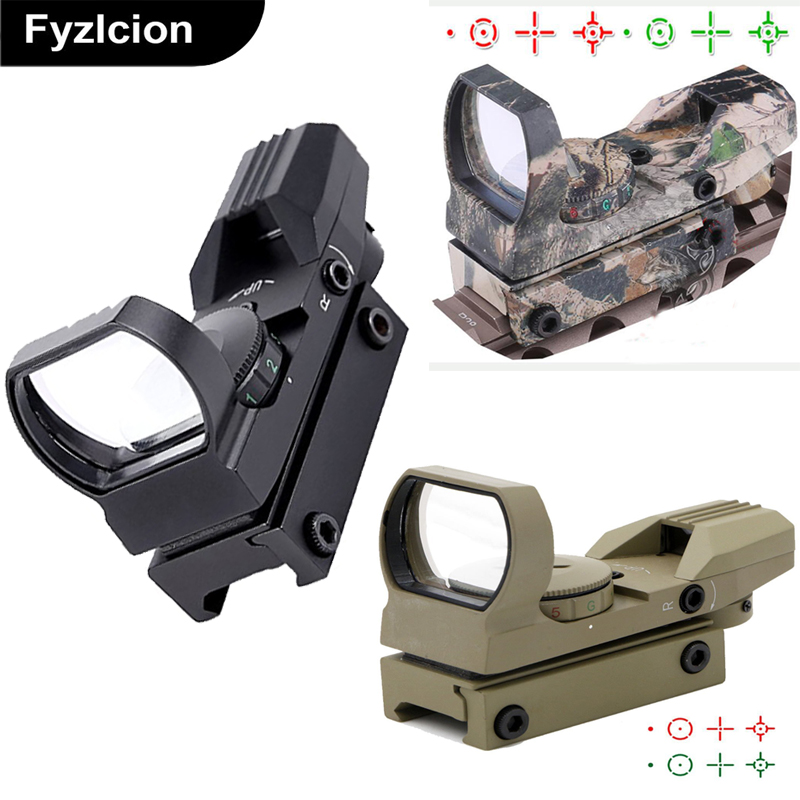 3 Colors Tactical Holographic Sight Red Green Dot Gun Sight Scope for rapid-firing or Shooting of moving targets moving targets take this ride