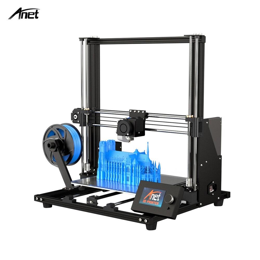 2019 Anet A8 À Niveau et Plus Haute-précision bricolage 3D Imprimante Auto-assemblage 300*300*350mm grande Taille D'impression En Aluminium Châssis En Alliage