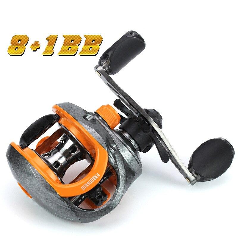Baitcast Reel 8+1BB Fishing Reels Centrifugal Magnetic Brake Zinc Alloy Bearing Left Right Hand Ocean Catch