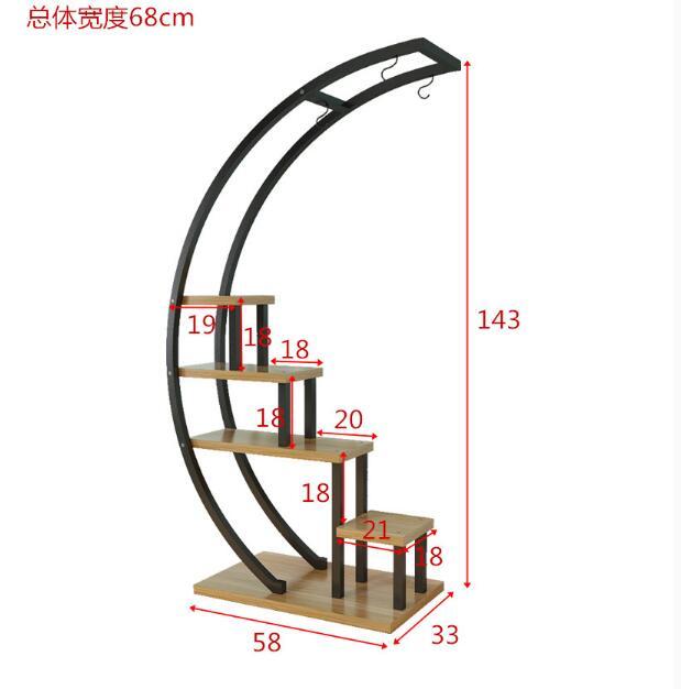 varanda decoração prateleira, ferro pote prateleira