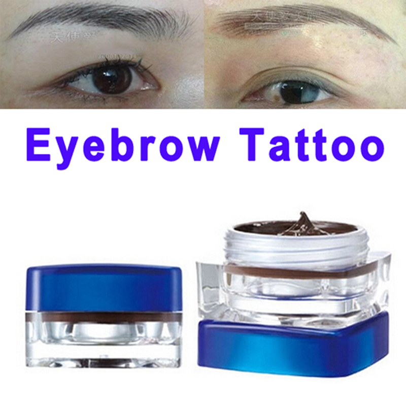 Eyebrow permanent makeup paste pigment tattooing black for Permanent metallic ink tattoos