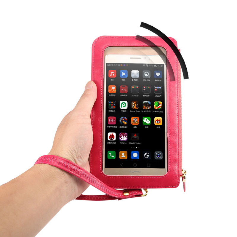 Luxury Leather Case Touch Screen + Small Shoulder Crossbody Pouch + Wallet Bag for Xiaomi Redmi Note 3 Pro Note 2 4c 4i mi5 4s