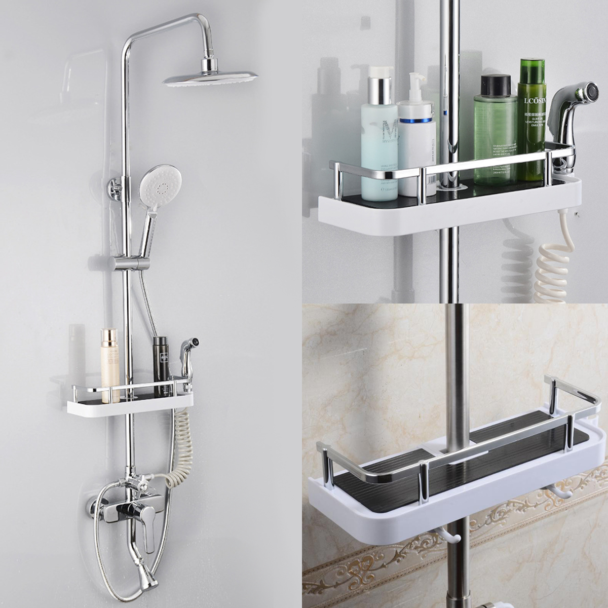 1 pc Badezimmer Regal Dusche Storage Rack Shampoo Halter Bad ...