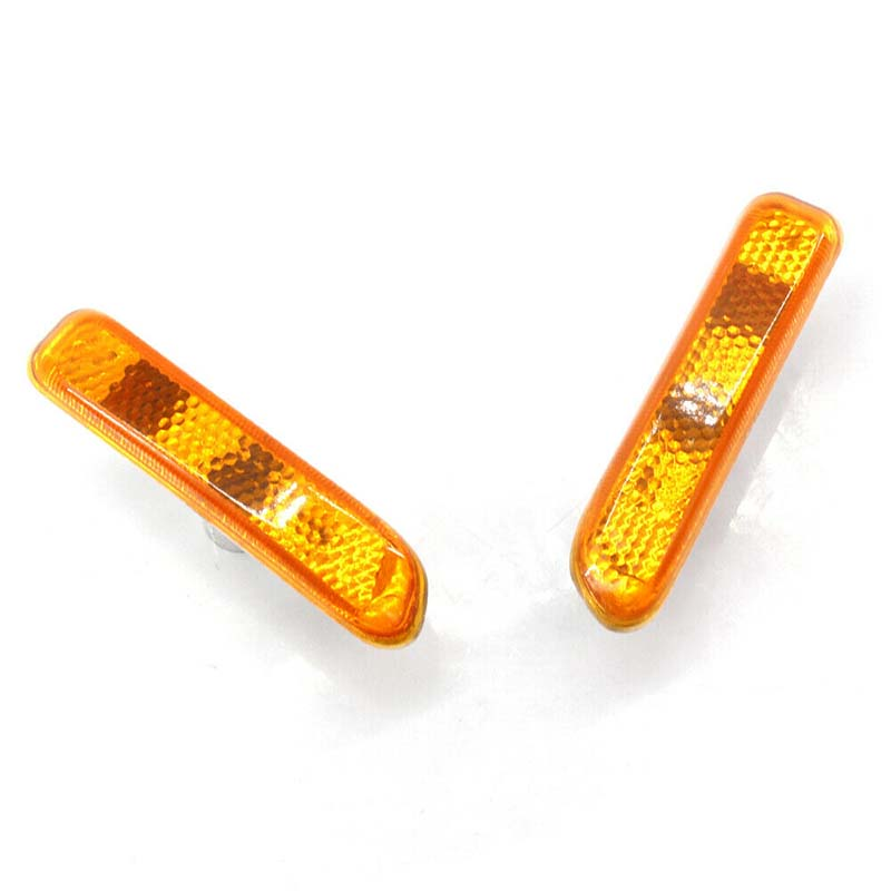 Pair Car Side Lights Lamp Yellow Lens For BMW 3 Series E46 1999 2001 63132228592 Lamp Hoods     - title=