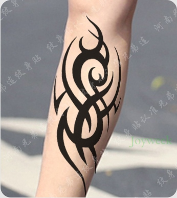 Waterproof Temporary Tattoo Sticker Large Fire Totem Tattoo Flame Tatto Stickers Flash Tatoo Fake Tattoos For Girl Women Men