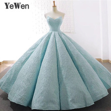 V neck blue Lace Tulle Evening Dresses 2020 Long Plus Size Wedding Party Dress Ball Gown Formal Dress Elegant Prom Gown