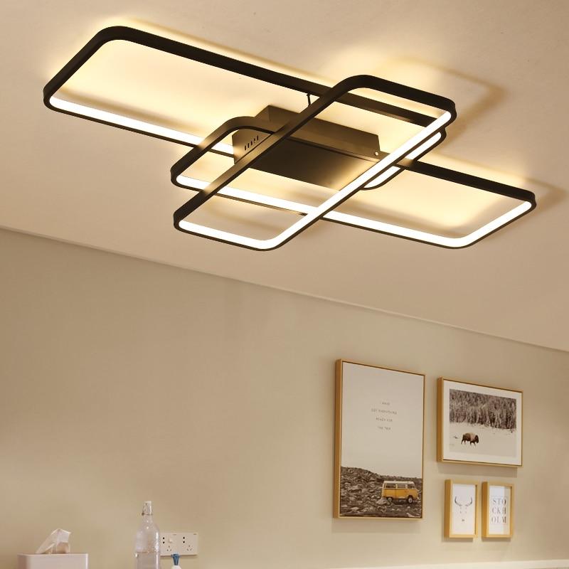 Remote dimming Modern Led Ceiling Lights For Living room Bedroom room light AC85-265V White/Black Ceiling Lamp light fixtures