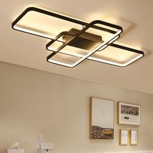 Remote dimming Modern Led Ceiling Lights For Living room Bedroom room light AC85-265V White/Black Ceiling Lamp light fixtures цена