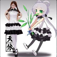 Luo Tianyi Cosplay VOCALOID CHINA PROJECT Cute White Costume Kawaii VOCALOID Cosplay Luo Tianyi Chinese Style Dress