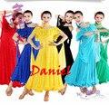 Бальные вальс платья vestido де formatura яркое пятно фламенко танцевальные костюмы новый 2014 вальс танцы платья 6 цвета танцевальная одежда