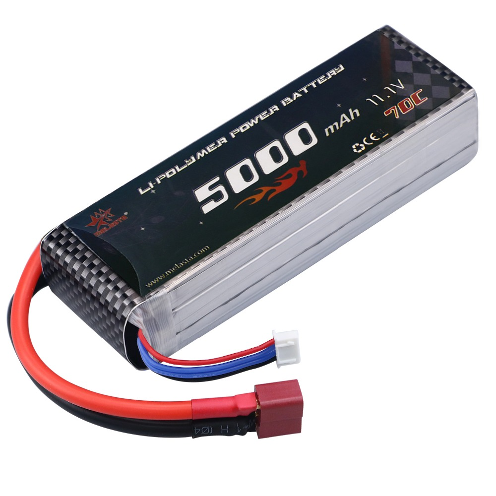 11.1V 3S 5000mAh 70C Lipo RC Battery with Deans-T Plug for DJI F450 Quadcopter RC Helicopter Airplane Hobby Drone and FPV RC CAR lipo battery 7 4v 2700mah 10c 5pcs batteies with cable for charger hubsan h501s h501c x4 rc quadcopter airplane drone spare