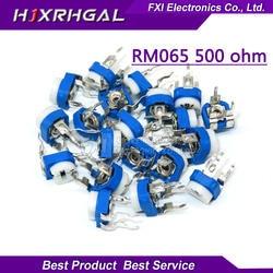 20 шт RM065 RM-065 500 Ом 501 RM065-501 триммер регулируемый резистор потенциометра