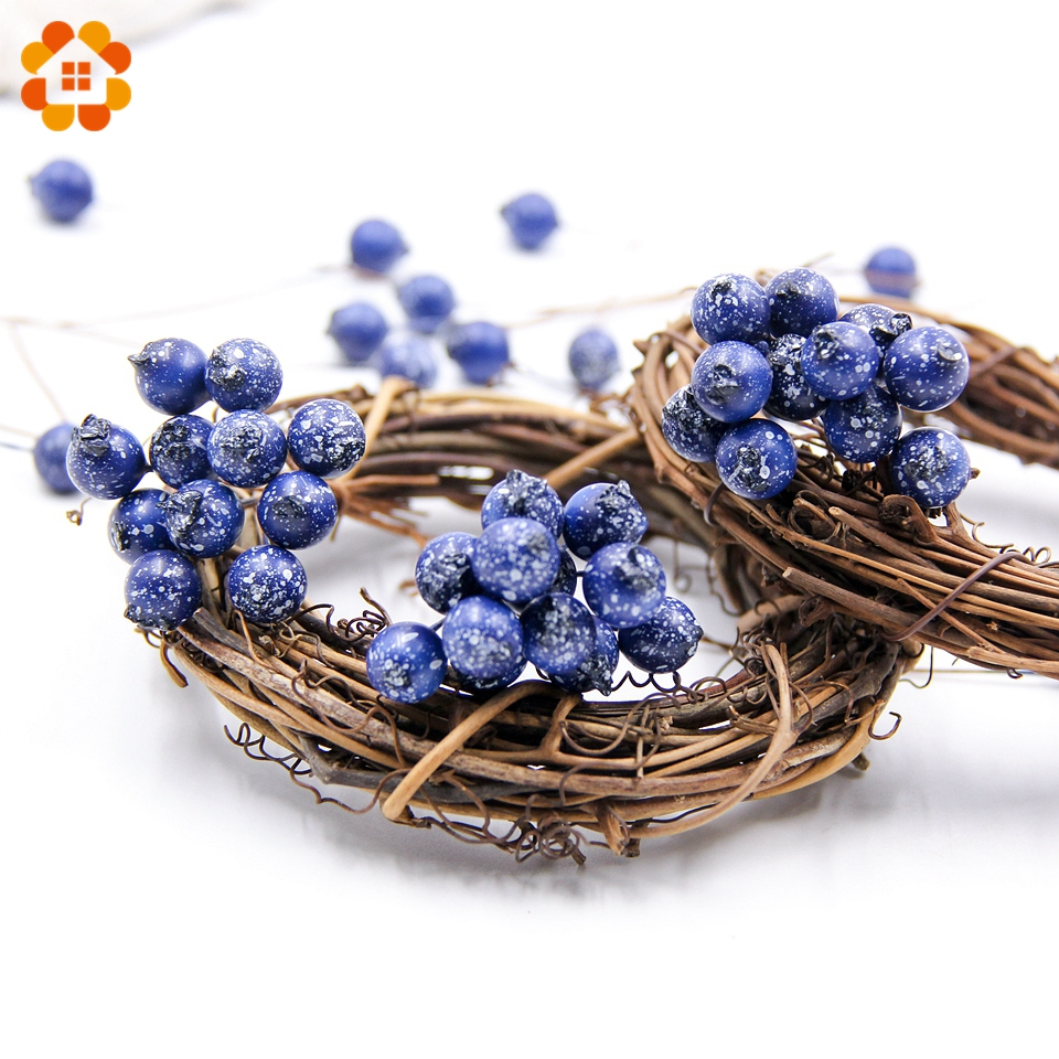 50pcs lot blueberry artificial pomegranate fruit stamen for Artificial pomegranate decoration