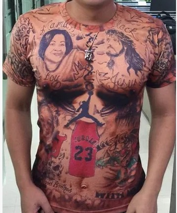 2018 novelty male tees sporting star JR Smith cool Tattoo t shirt for mens cool short sleeve cool unique tops casual clothing