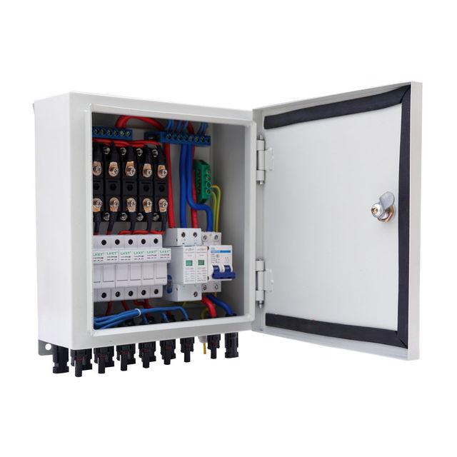 6 String Solar PV Array Combiner Box W Circuit Breakers